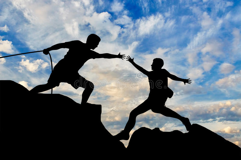 Teamwork and support concept royalty free stock image