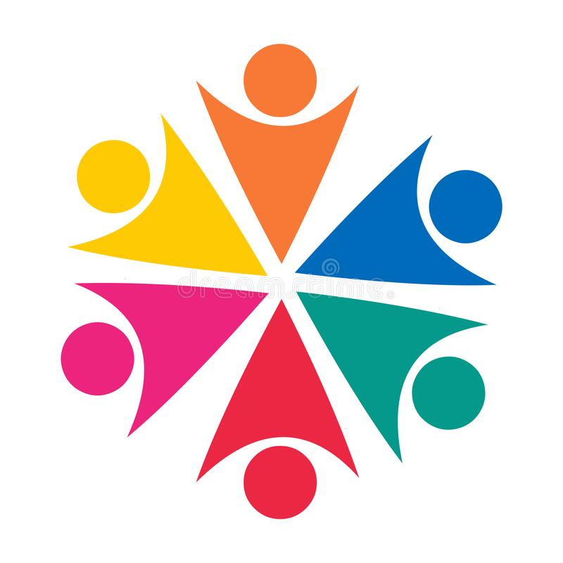 Teamwork symbol logo Begrepp Vektorsymbol av lagarbete vektor illustrationer