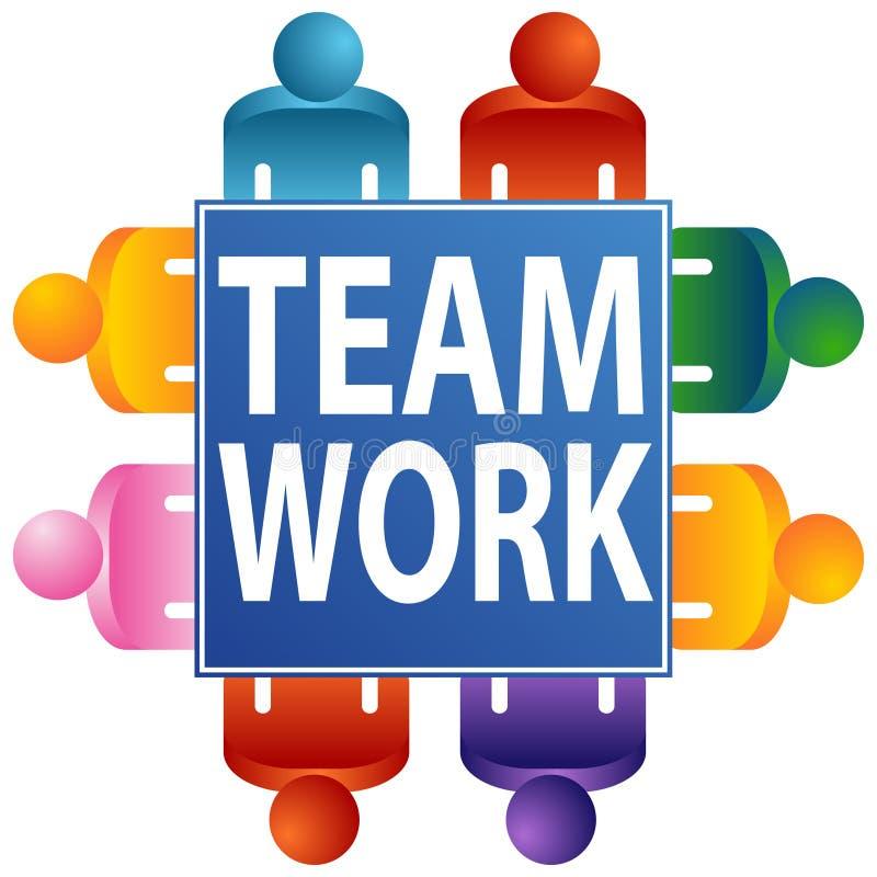 Teamwork-Tabelle stock abbildung