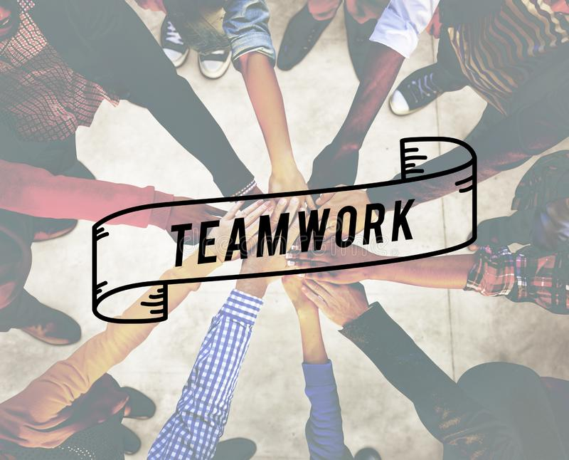 Teamwork Team Building Cooperation Relationship Concept royalty free stock photo
