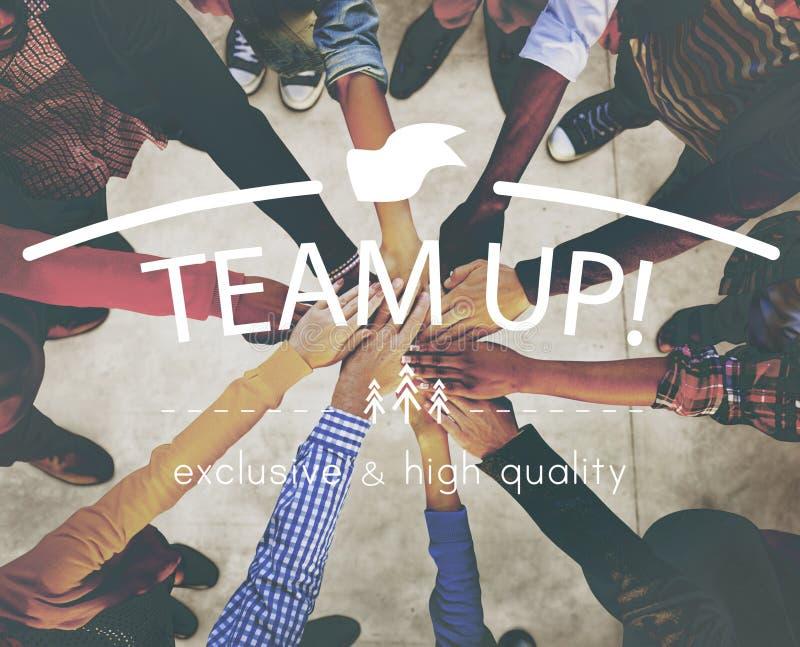Teamwork Team Building Spirit Togetherness Concept stock photo