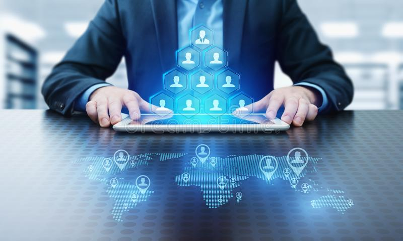 Teamwork Team building Successs Partnership Cooperation Business Technology Internet Concept stock photos