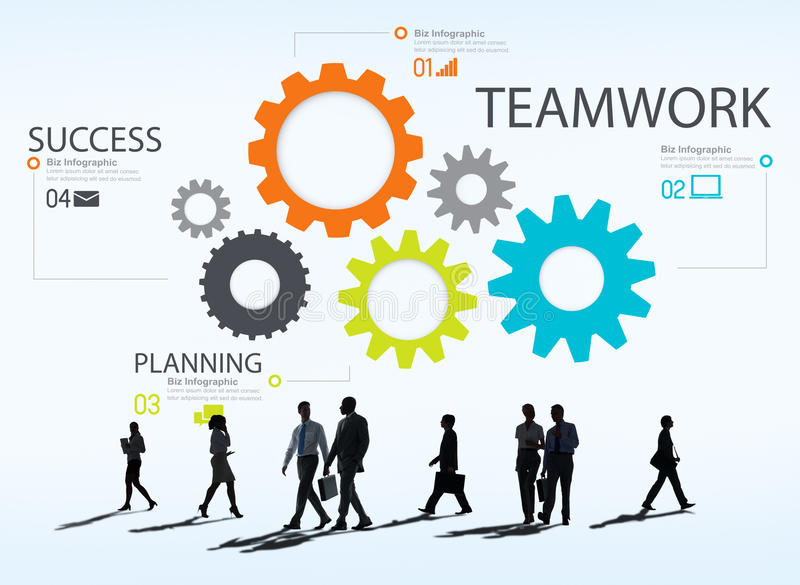 Teamwork Team Group Gear Partnership Cooperation Concept stock illustration