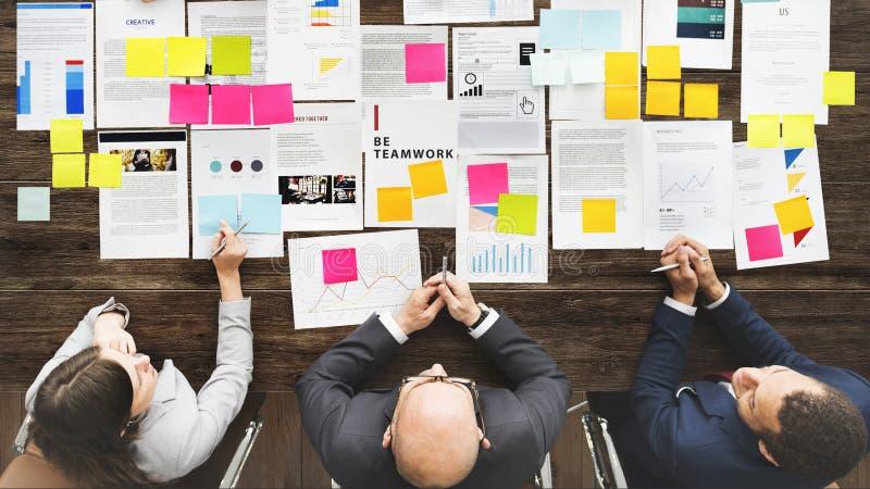 Teamwork Team Meeting Business Brainstorming Concept arkivbild
