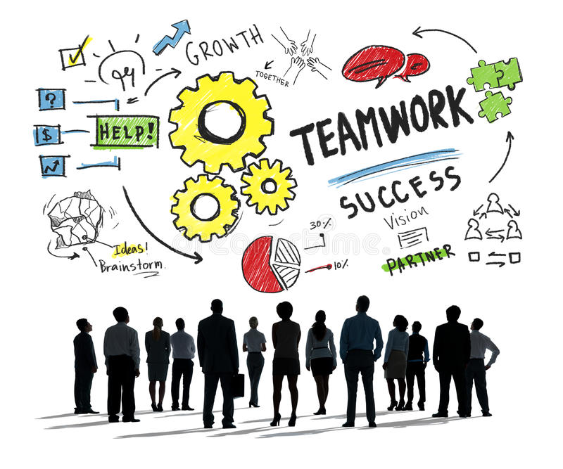 Teamwork Team Together Collaboration Business Concept vector illustration