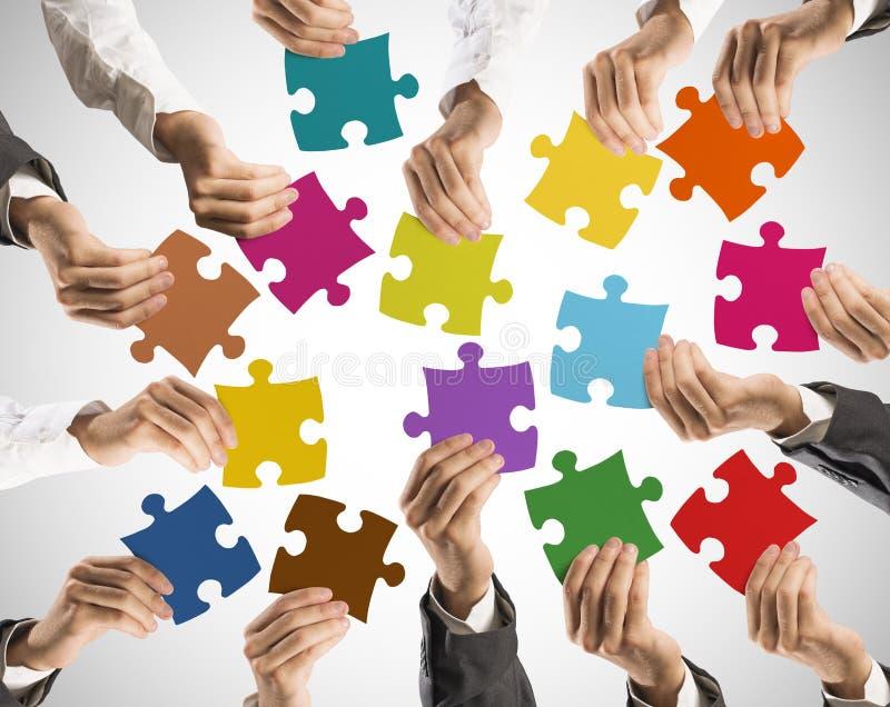 Teamwork- und Integrationskonzept stockfotos