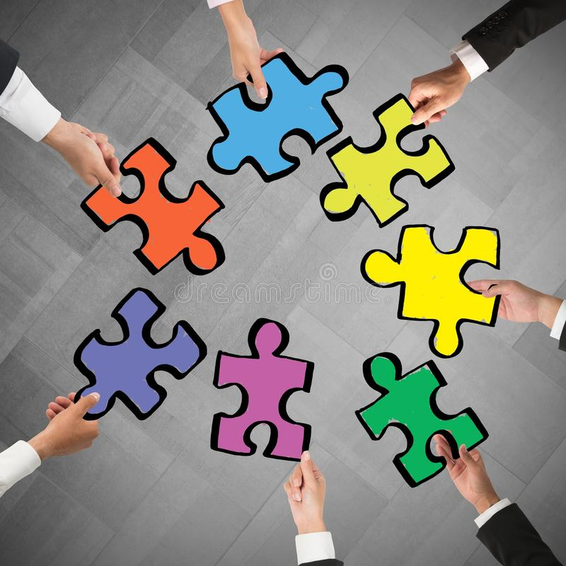 Teamwork- und Integrationskonzept lizenzfreie stockbilder