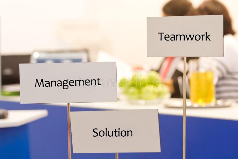 Teamwork und Lösung stockfoto