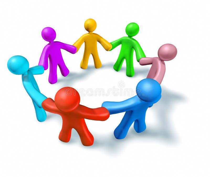 Teamwork und Teilhaberschaft lizenzfreie abbildung