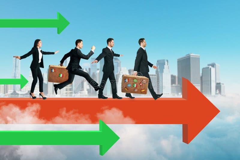 Teamwork- und Wettbewerbskonzept lizenzfreie stockfotografie