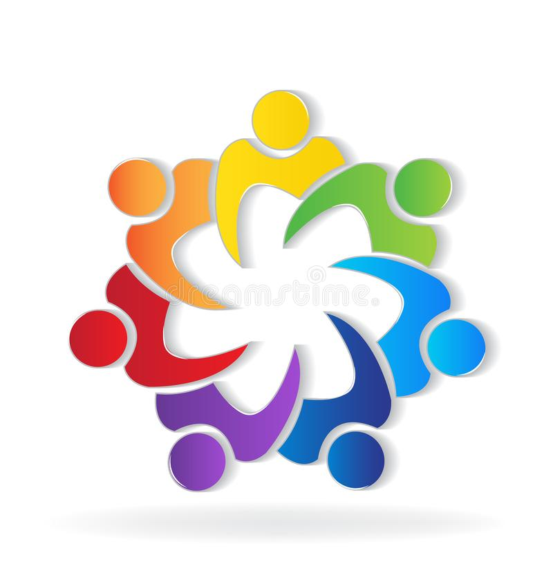 Teamwork unity people logo stock vector. Illustration of company ...
