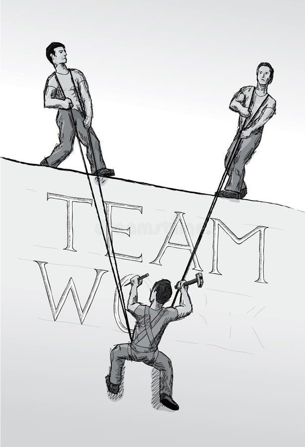 Teamwork (vector) stock illustration