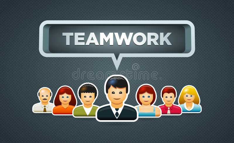 Download Teamwork stock vector. Illustration of person, concept - 32627591