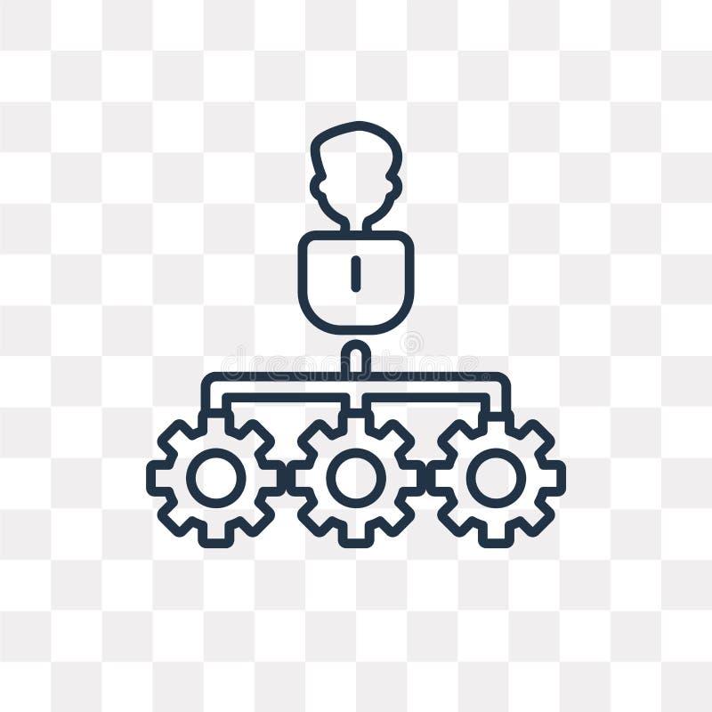 Teamwork-Vektorikone lokalisiert auf dem transparenten Hintergrund, linear lizenzfreie abbildung