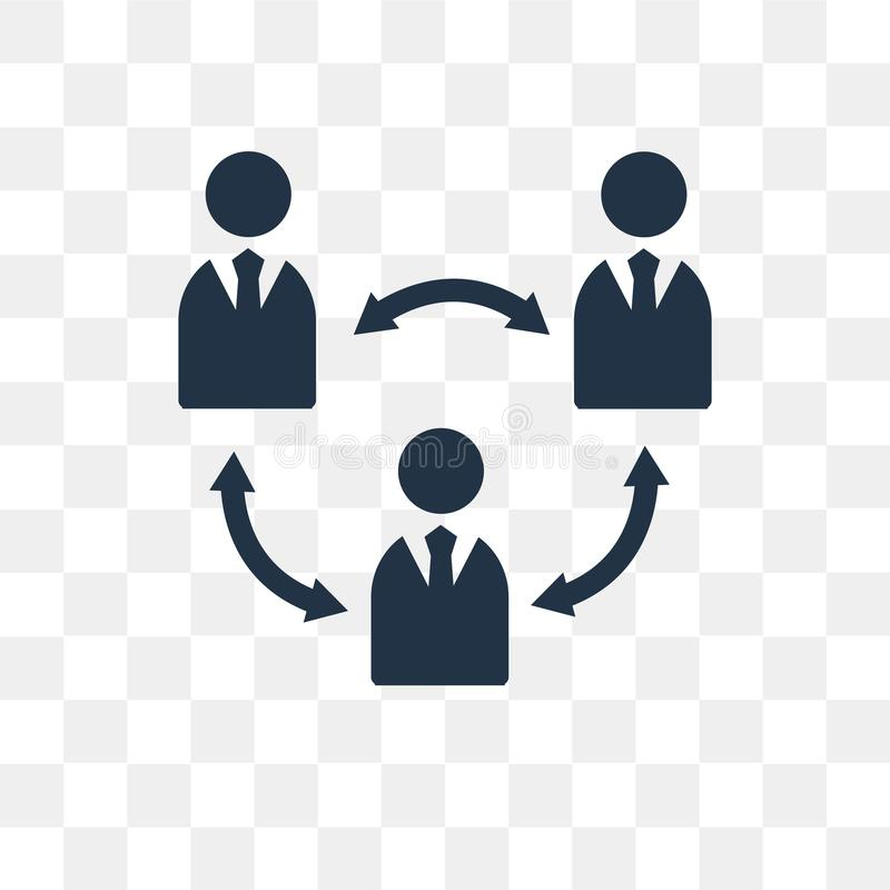 Teamwork-Vektorikone lokalisiert auf transparentem Hintergrund, Teamwor lizenzfreie abbildung