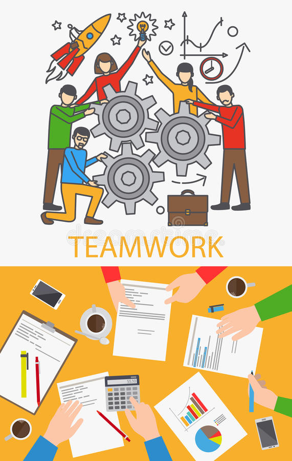 Teamwork-Vektorkonzept stock abbildung
