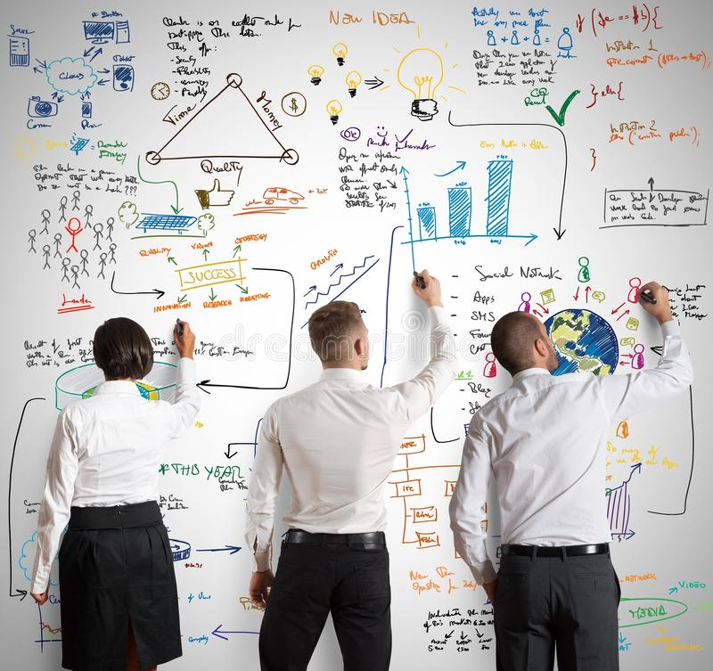 Free Teamwork With New Business Project Royalty Free Stock Images - 39408499
