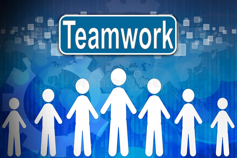 Teamwork in word Human resources stock illustration