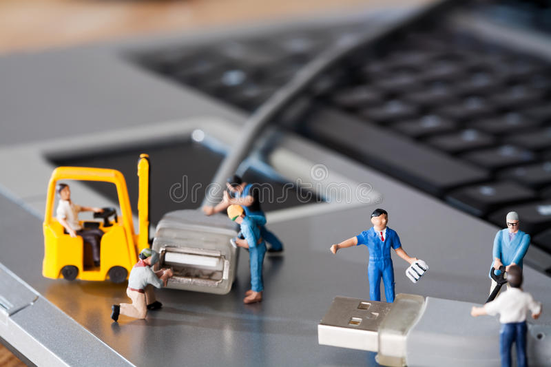 Teamwork In The Workplace royalty free stock photo
