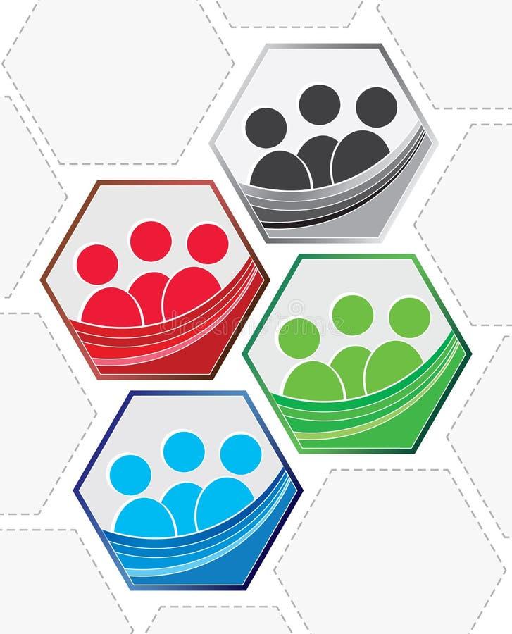 Teamwork-Zeichensatz lizenzfreie stockbilder