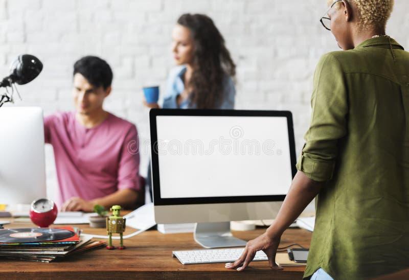 Teamwork-zusammen Berufsbesetzungs-Konzept lizenzfreies stockfoto