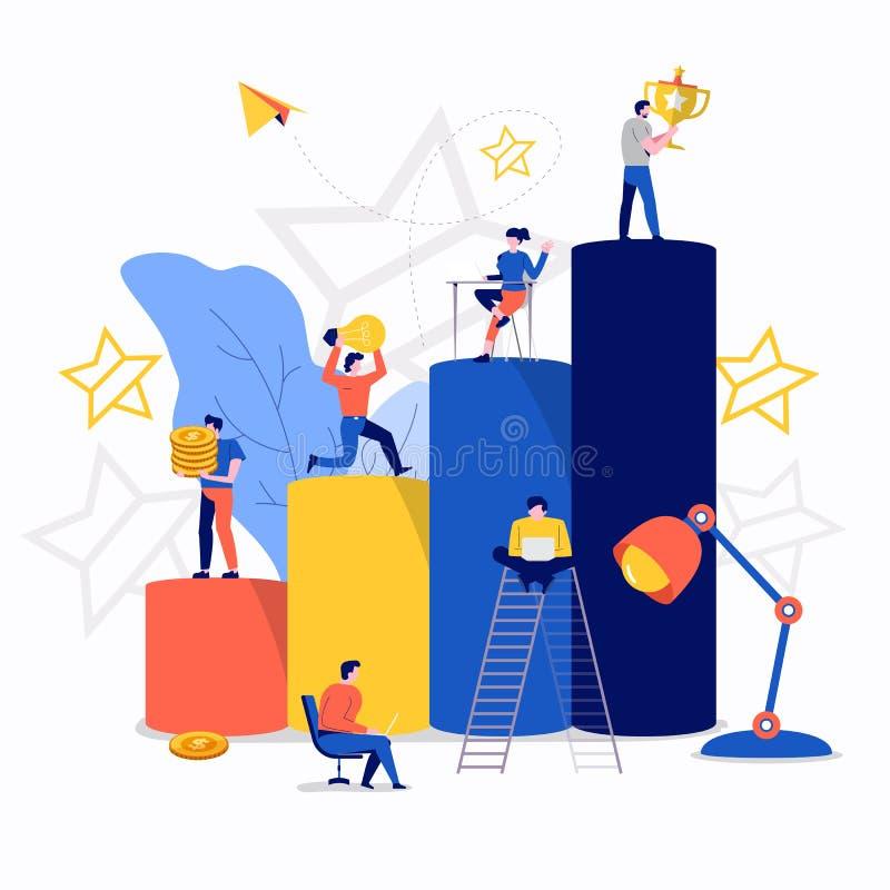 Teamworkaffärsframgång royaltyfri illustrationer