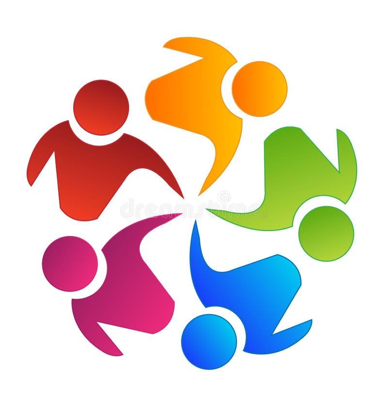 Teamworkgruppplanläggning och skapasymbol royaltyfri illustrationer
