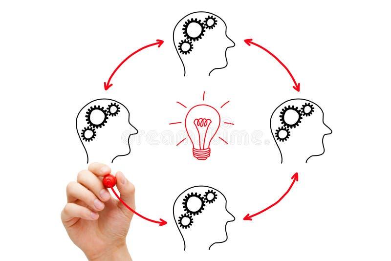 Teamwork Builds Big Idea Stock Photo