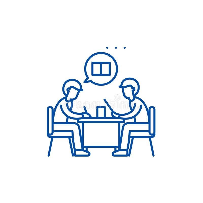 Teamworklinje symbolsbegrepp Plant vektorsymbol för teamwork, tecken, översiktsillustration vektor illustrationer