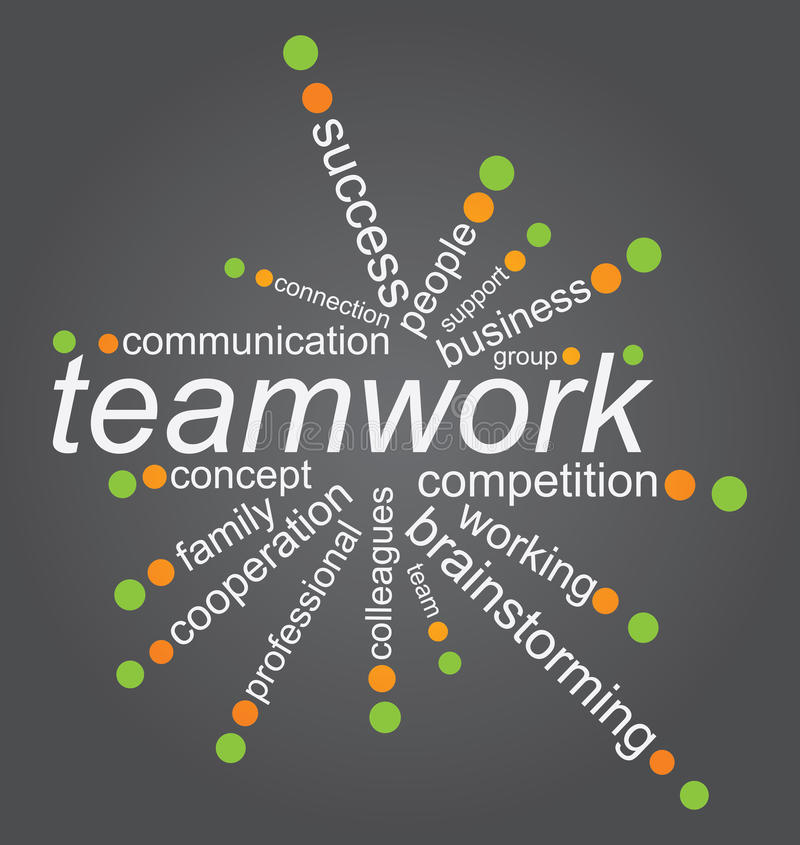 Download Teamworks concep stock vector. Image of background, connection - 24274775
