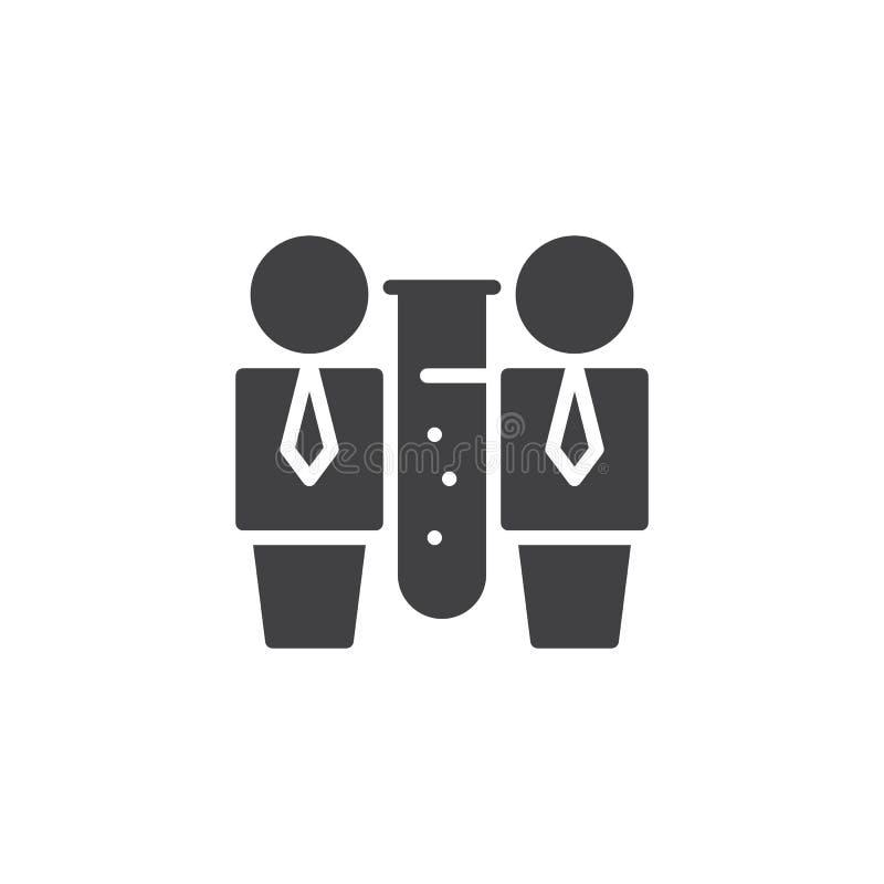 Teamworkvektorsymbol stock illustrationer