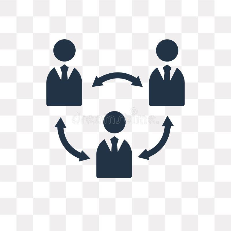 Teamworkvektorsymbol som isoleras på genomskinlig bakgrund, Teamwor royaltyfri illustrationer
