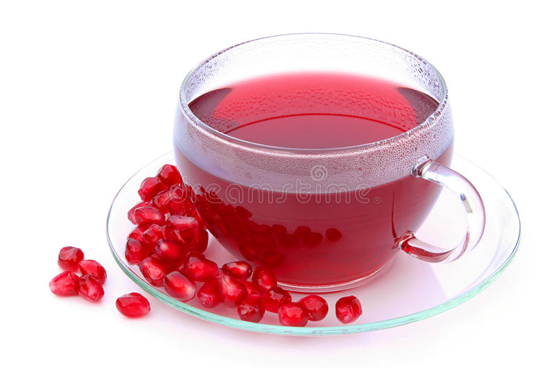 Teapomegranate royaltyfri bild