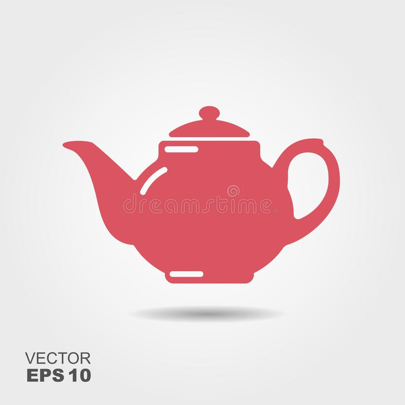 Teapot διανυσματικό εικονίδιο, σύμβολο τσαγιού διανυσματική απεικόνιση