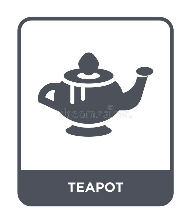 teapot εικονίδιο στο καθιερώνον τη μόδα ύφος σχεδίου Teapot εικονίδιο που απομονώνεται στο άσπρο υπόβαθρο teapot διανυσματικό απλ ελεύθερη απεικόνιση δικαιώματος