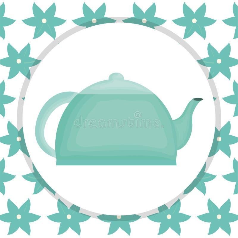 Teapot κουζινών εικονίδιο στοιχείων διανυσματική απεικόνιση
