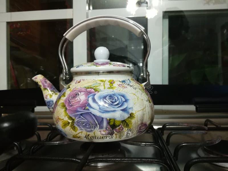 Teapot λουλουδιών στοκ εικόνες