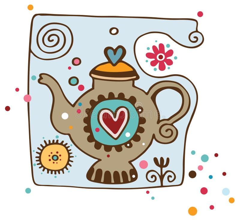 teapot στοιχείων διανυσματική απεικόνιση
