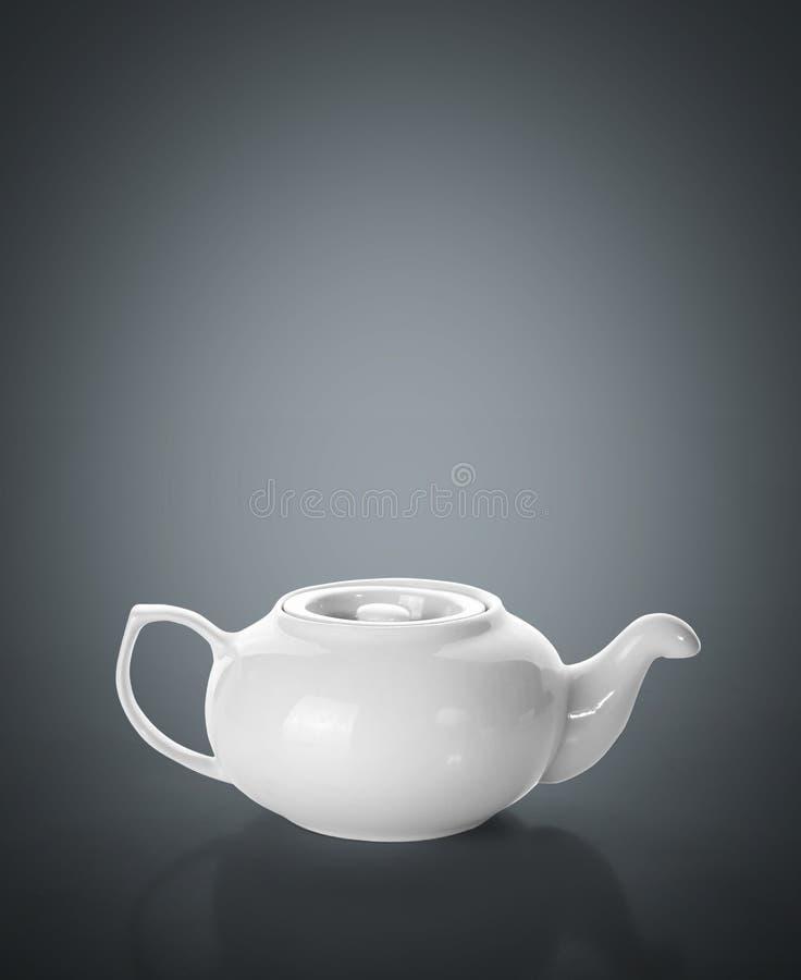 Teapot στο γκρι στοκ φωτογραφία με δικαίωμα ελεύθερης χρήσης