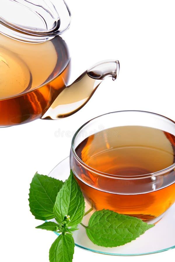 Download Teapot τσαγιού φλυτζανιών στοκ εικόνα. εικόνα από χρόνος - 17051905