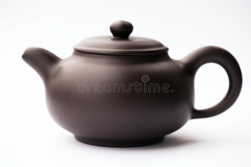 Teapot 2 da argila de Brown imagens de stock