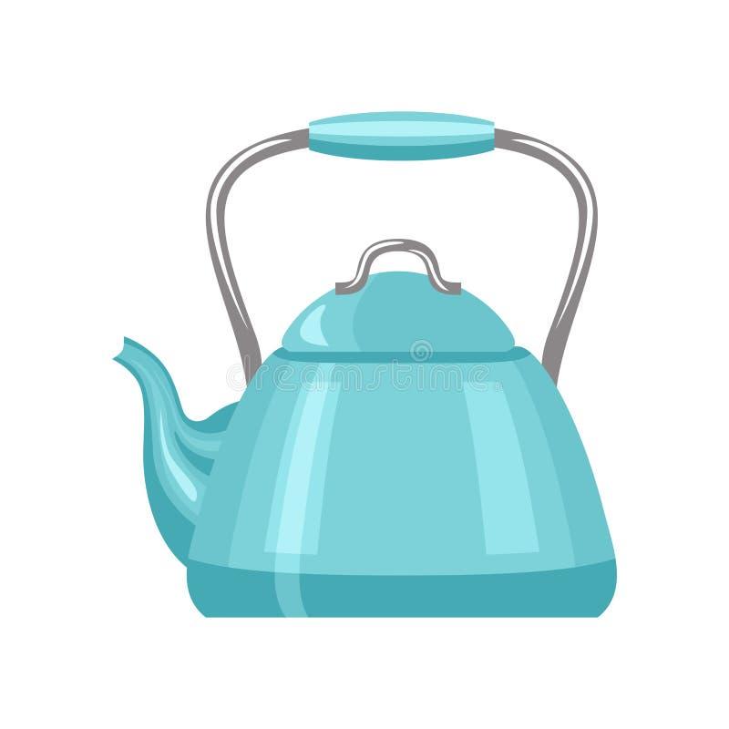 teapot Błękitna czajnik ikona odizolowywająca ilustracji