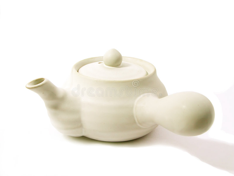 Teapot Branco Foto de Stock Royalty Free
