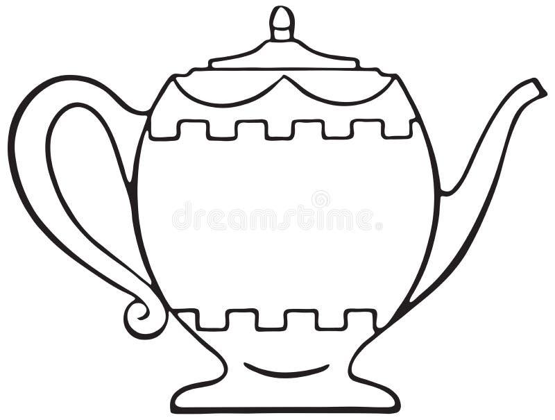 teapot ilustração stock
