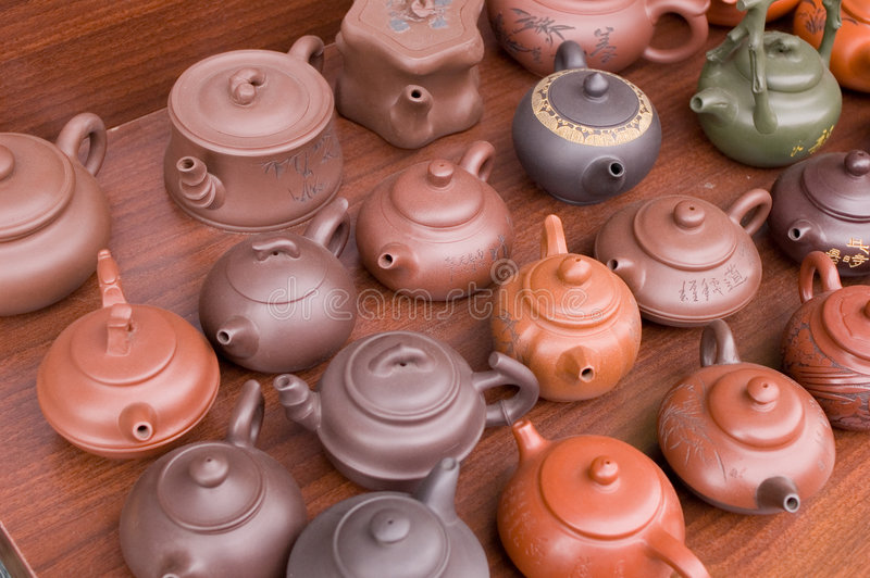 teapot chinês foto de stock