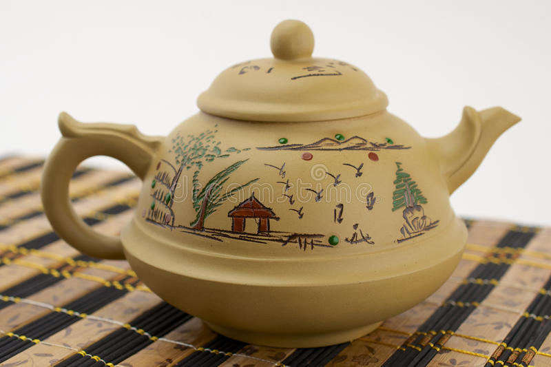Teapot chinês da argila fotografia de stock