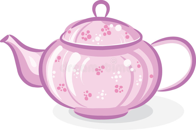 Teapot cor-de-rosa ilustração stock