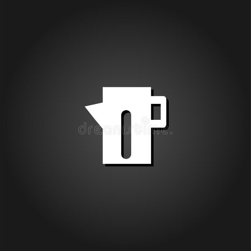 Teapot czajnika ikony mieszkanie ilustracja wektor