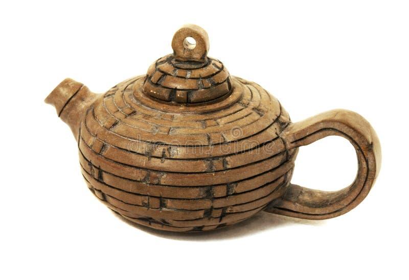 Teapot da argila imagem de stock