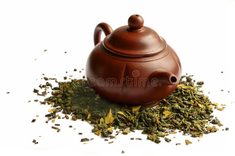 Teapot da argila para o chá chinês fotografia de stock royalty free